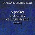 KHANBOOKS: A Pocket Dictionary of English and Tamil   english to tamil translation