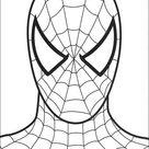 Ausmalbild: Spiderman's Kopf   Ausmalbilder kostenlos zum ausdrucken