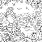 Country Picnic  Printable Adult Coloring Page from Favoreads | Etsy