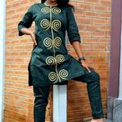 Newest Cute African Kaftan Top and Trouser