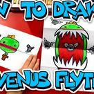 How To Draw A Venus Flytrap Folding Surprise - Art For Kids Hub -