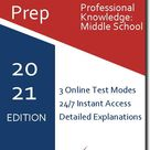 MCA Professional Knowledge: Middle School   - Online Practice Tests - 15 Practice Tests