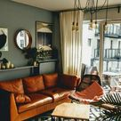 Fall Autumn Home Decor Ideas 2020 Warm and Dark Colours Trend Brown and Cognac