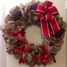 Burlap Christmas Wreaths