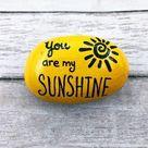 You Are My Sunshine Encouragement Rock Affirmation Stone   Etsy