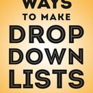 Excel Drop Down Learn how to make data validation lists that can sort and update auto