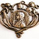 Joan of Arc Medal Rosary Center 1 1/8''