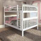 Enna White Full Over Full Bunk Bed