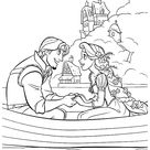 Flynn Rider and Rapunzel coloring page | Free Printable Coloring Pages