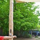 Robinienpfosten für Sonnensegel   charmant, robust, beständig