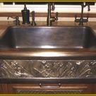 Elite Bath Kitchen Sinks Farmhouse - Bronze Chameleon FS32 32 Farmhouse Kitchen Sink - Includes Art Panel - Elite Bath Bronze Apron Front Farm house Sink [FS32] - Wave Plumbing Supply