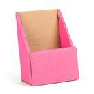 Pink Cardboard Literature Holder - 30 ct