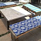 Tuesday Tutorial: Customized Outdoor Bench Cushions