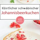 Johannisbeerkuchen mit Baiser & Mandeln | Backen macht glücklich