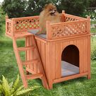 Premium FluffyPaws? Outdoor Weather Resistant Wooden Puppy Pet Dog House - Default Title