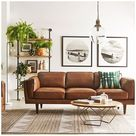 brown leather couch living room decor accessories