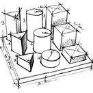 Puzzle cubi di legno