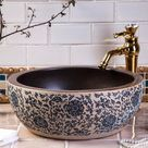 Chinese Porcelain Wash Basin Art Countertop Ceramic Sink - 1