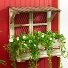 Rustic Wall Planter Wood Drawer Metal Chicken Wire 3 Compartments Country Decor for sale online | eBay