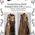 Redingote or Georgian Dress About 1780 Incl. Split-bum   Etsy