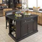 Hello homestyles® Hartford 3 Piece Black Kitchen Island Set-5033-949
