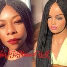 Braided wigs for black women | Etsy