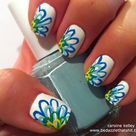 Flower Design Nails
