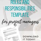 The Roles and Responsibilities Document on Projects • Girl's Guide to Project Management