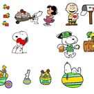 Charlie Brown Valentine SVG, Peanuts Easter SVG, Woodstock Clipart, Snoopy Easter Egg DXF