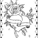 Enjoy these Hearts and Roses Coloring Pages related to