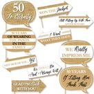 Big Dot of Happiness Funny We Still Do - 50th Wedding Anniversary - Anniversary Party Photo Booth Props Kit - 10 Piece