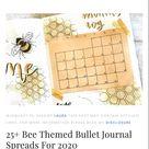 25+ Best Bee Themed Bullet Journal Spreads