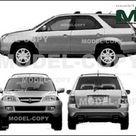 Acura MDX 2005   Disegno 2D   22325   Model COPY   Italiano