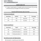 46+ Sample Resume Format Free Download 2021