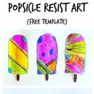 Popsicle Resist Art with Free Popsicle Template