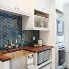 Modern Farmhouse Laundry & Powder Room   kbgdesign