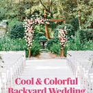 Cool & Colorful Backyard Wedding