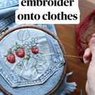 Nice how to embroider onto clothes