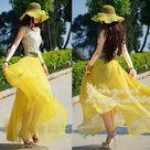 Chiffon Maxi Skirts