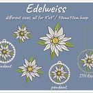 Edelweiss Borduurbestanden set voor 10 x 10 cm / | Etsy