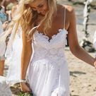 Beach Wedding Dress Chiffon And Lace Dresses For Brides pst1310