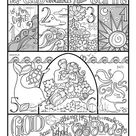 Days of Creation  coloring page in three sizes: 8.5X11  8X10 | Etsy