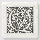 Personalized Monogram Letter Q Wedding Birthday Stone Coaster | Zazzle.com