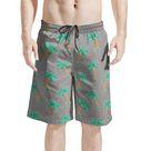 Cartoon Palm Tree Hawaiian Print Men's Shorts   Men's Shorts / 3XL