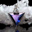 Tanzan Aura & White Topaz Angelic Star Crystal Pendant