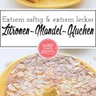 Saftiger Zitronen-Mandel-Kuchen ohne Mehl | Backen macht glücklich