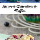 Blaubeermuffins mit Butterstreuseln   Fluffig und saftig   Schnin's Kitchen