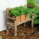 Rustic Reclaimed Tobacco Lath Board Small Decorative Garden Bench