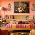 Wandfarbe Apricot – frische Wand Streichen Ideen
