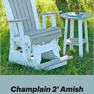 Champlain 2' Amish Balcony Glider